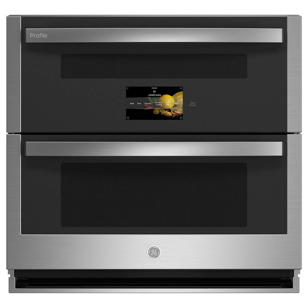 GE Profile 30-inch Smart Built-In Convection Wall Oven in Stainless Steel