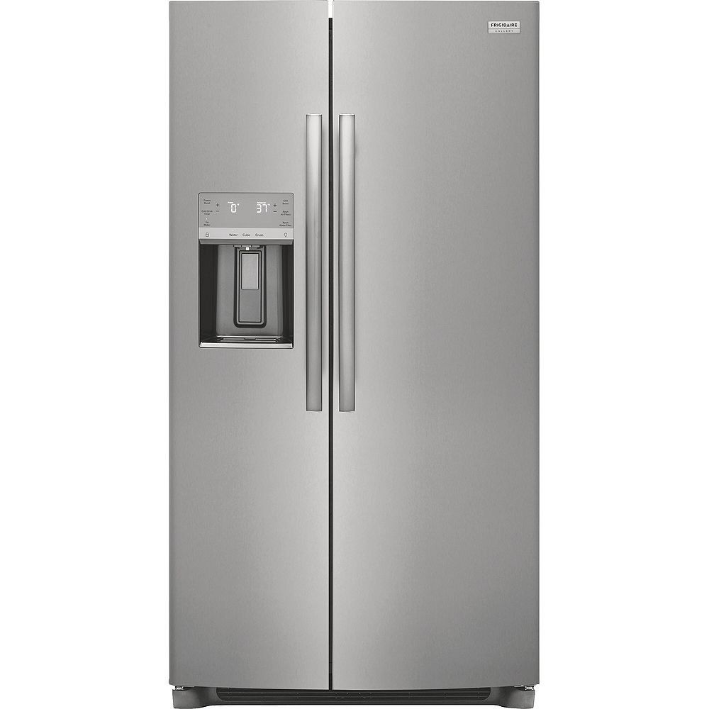 Frigidaire Gallery 36-inch Wide 25.6 Cu. Ft. Side Refrigerator in Smudge-Proof® Stainless Steel