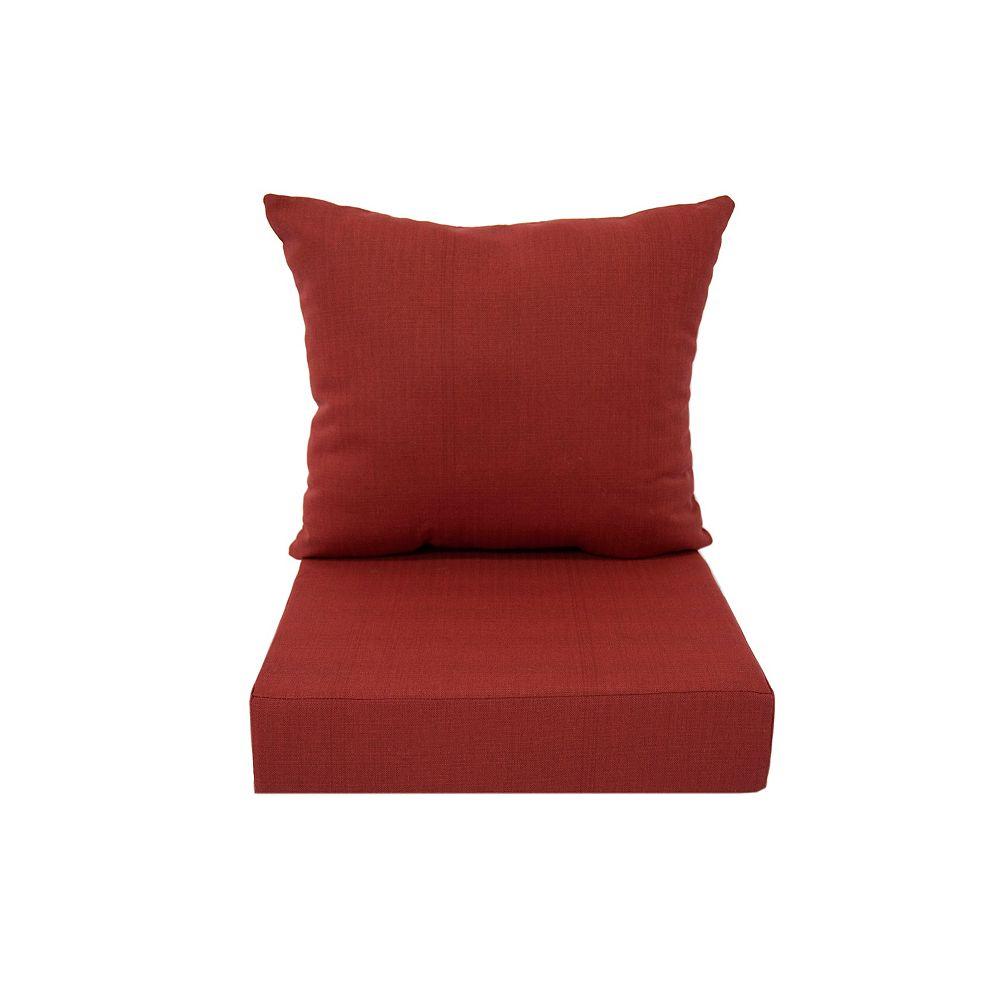 Bozanto Inc. Deep Seating Cushion Red
