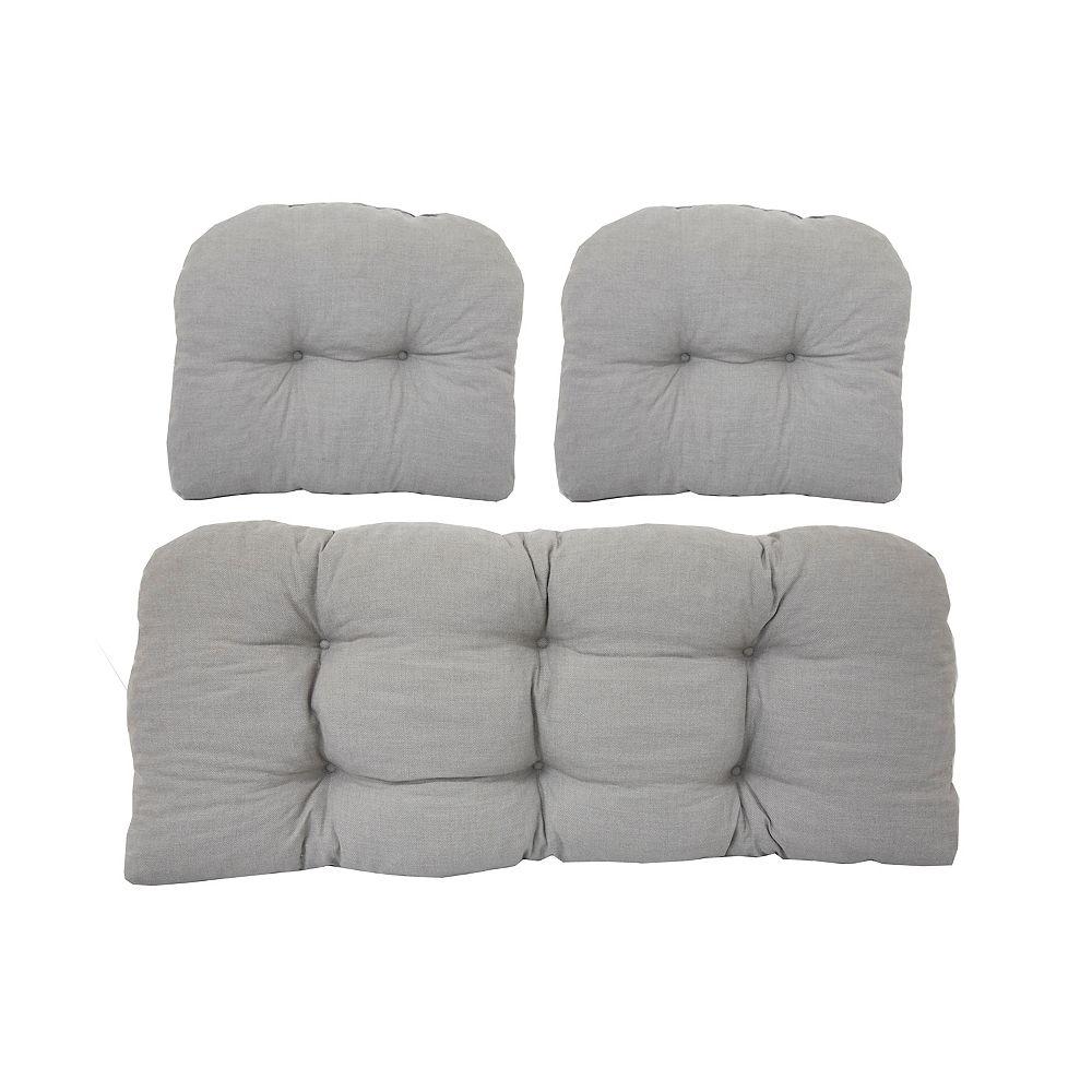 Bozanto Inc. 3 Piece Cushion Set Taupe