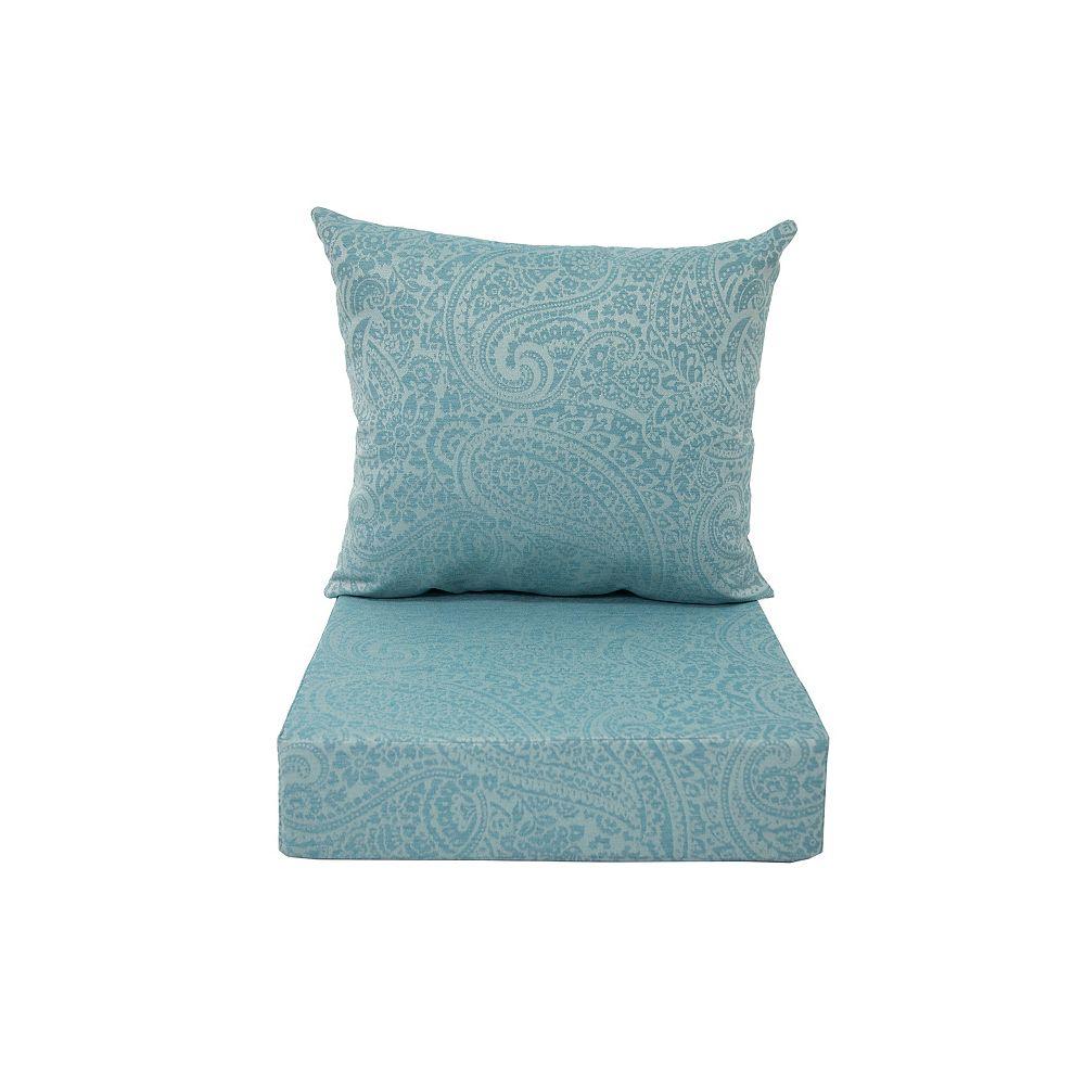 Bozanto Inc. Deep Seating Cushion Spa Blue