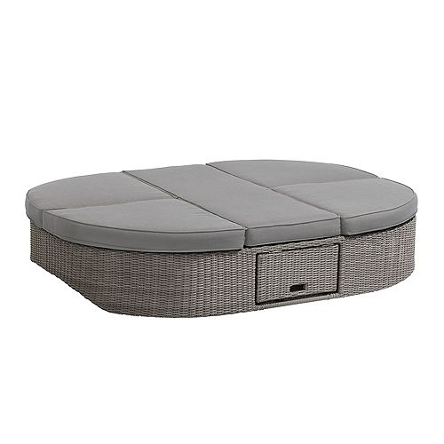 OVE Decors Sandra 1-PC Outdoor Daybed in Grey