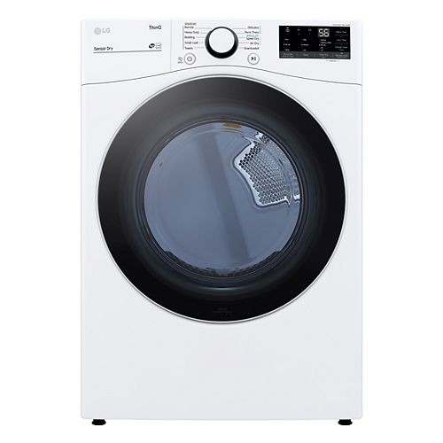 7.4 cu.ft. Smart Electric Dryer with AI and Wi-Fi in White, Stackable - ENERGY STAR®