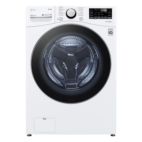 5.2 cu. ft. Smart Front Load Washer with AI and Wi-Fi in White, Stackable - ENERGY STAR®