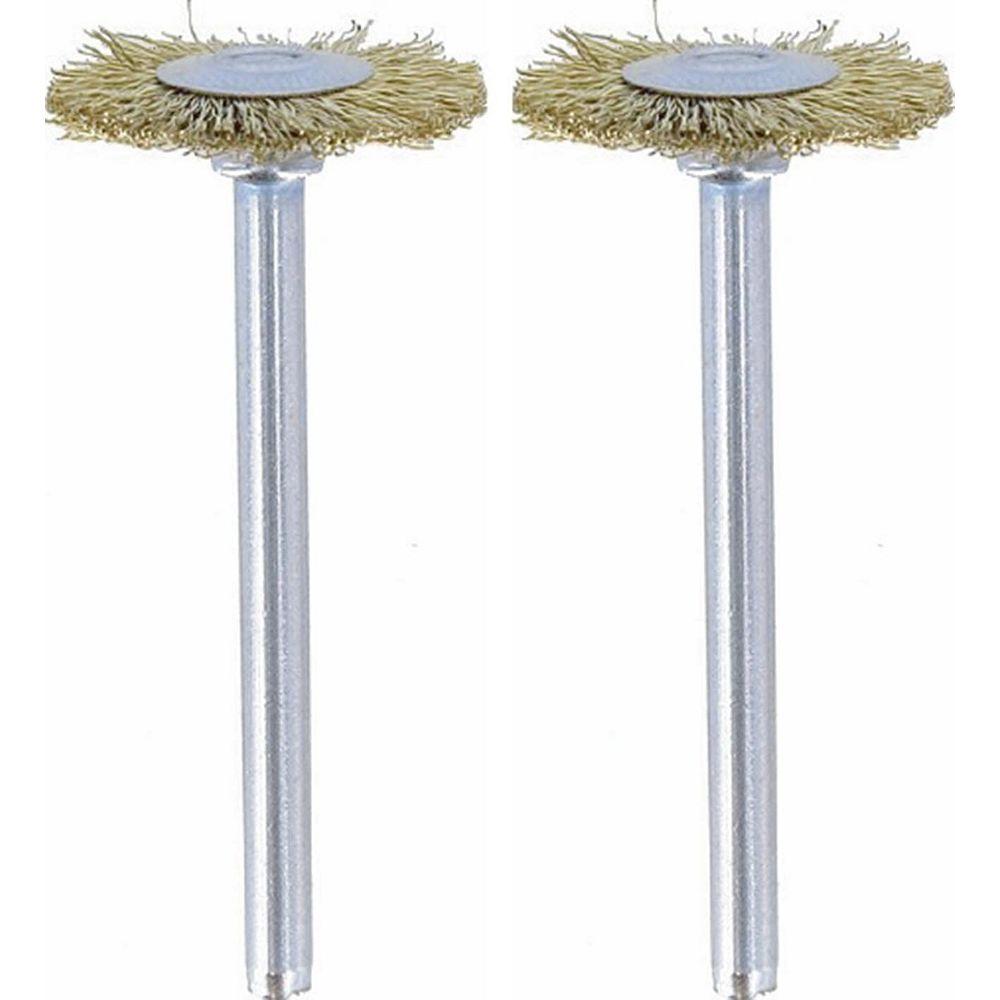 """Dremel 535-02 3/4"""" Brass Brushes (2PK)"""