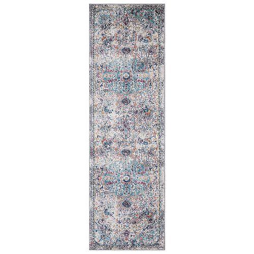 Azure Gray 2 ft. 3-inch x 7 ft. 3-inch Medallion Indoor Runner Rug