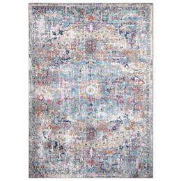 Azure Gray 5 ft. 3-inch x 7 ft. 3-inch Medallion Indoor Area Rug
