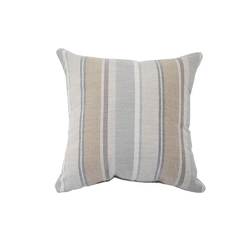 Coussin d'appoint Sunbrella gris raye