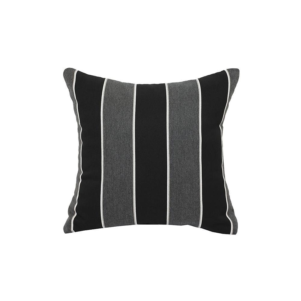 Bozanto Inc. Sunbrella Toss Cushion black stripe