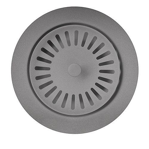 Colour-Coordinated Metal Waste Flange, Metallic Gray