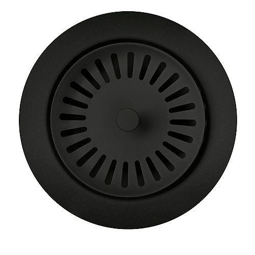 Colour-Coordinated Metal Waste Flange, Coal Black