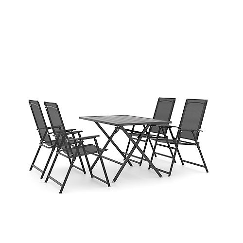 Mobilier de salle à manger pliant Bradley Park de 5 pièces