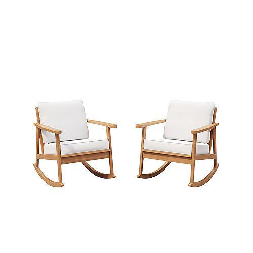 Glenbrooke 2-Pack Cushioned Rocking Chairs