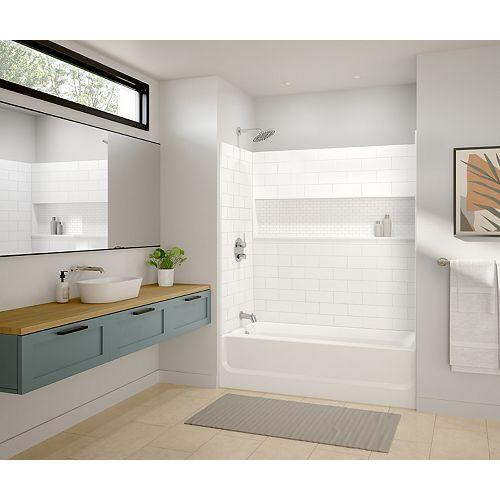MAAX Vivid 60 x 30-inch Rectangular Alcove Bathtub in White with Left-Hand Drain