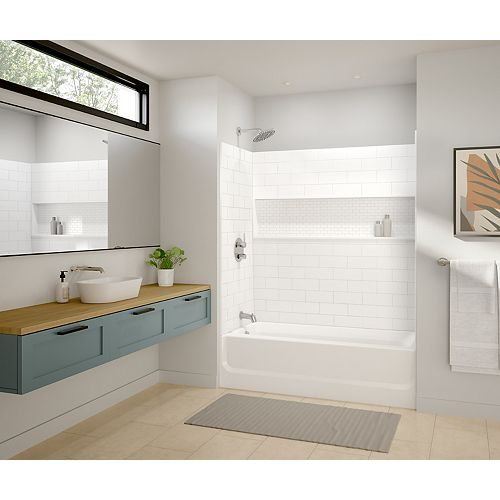 MAAX Vivid 60 x 30-inch Rectangular Alcove Bathtub in White with Right-Hand Drain