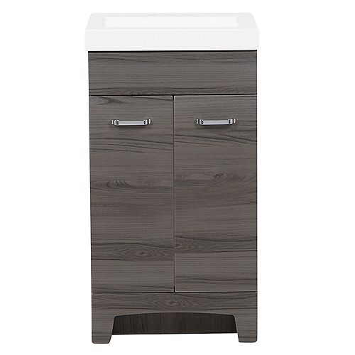 Stancliff 18.50 in. W Vanity in Lenox with Cultured Marble Vanity Top in White
