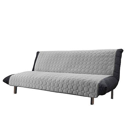 Armless Furniture Sofa - Light Grey