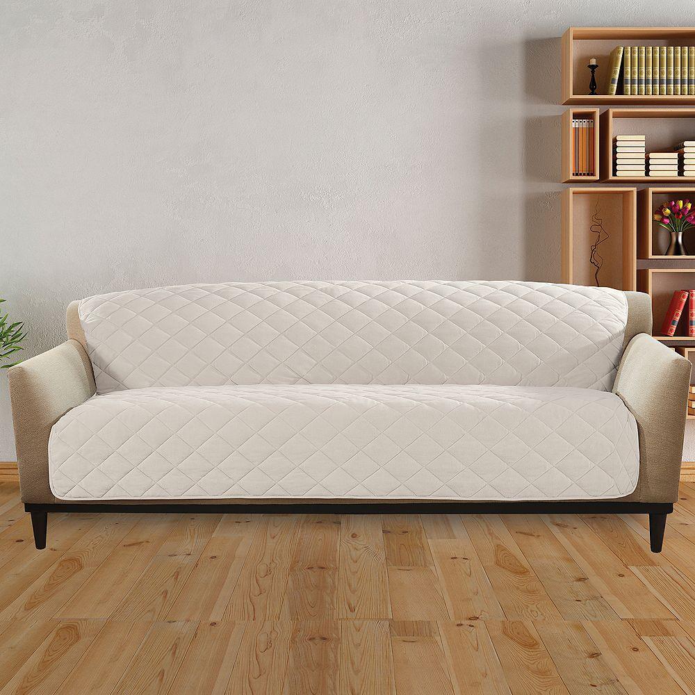 Sure Fit Sherpa Furniture Sofa - Cream