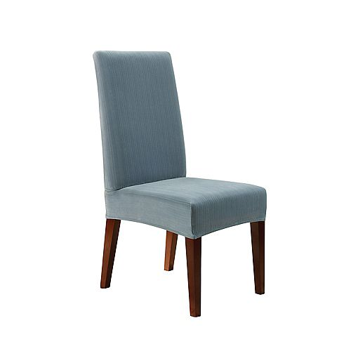 Stretch Pinstripe - Dining Chair - French Blue