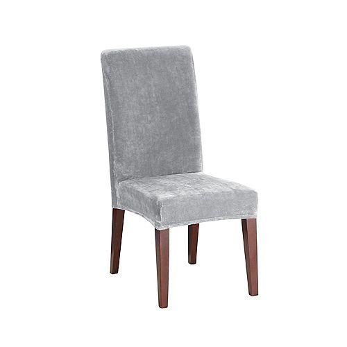 Stretch Plush - Dining Chair - Light Grey