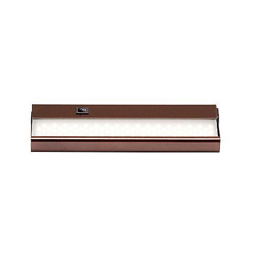 Signature luminaire pour dessous d'armoire à DEL intégrée de 12 po (30,4 cm), fini en bronze huilé