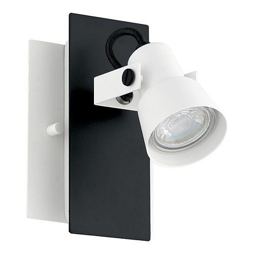 Eglo Trillo 1-Light Black and White Wall Sconce