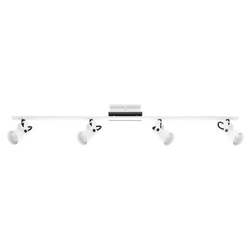 Eglo Trillo 38.75-inch 4-Light Black and White Track Lighting