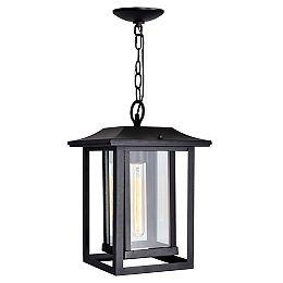 Winfield 1-Light Black Outdoor Pendant Light