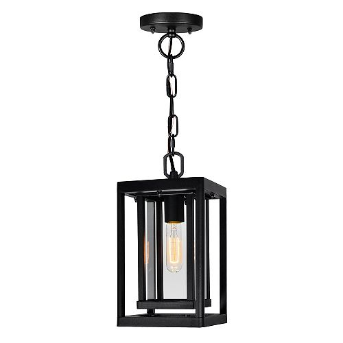 Mulvane 1-Light Black Outdoor Pendant Light