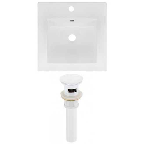 AI-23818 16.5-inch W Ceramic Top Set in White