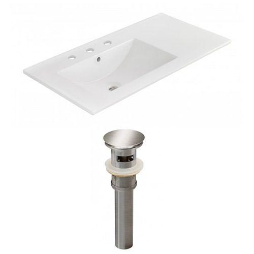 AI-23875 35.5-inch W Ceramic Top Set in Brushed Nickel