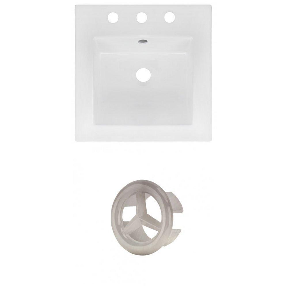 American Imaginations AI-21149 16.5-inch W Ceramic Top Set in Brushed Nickel