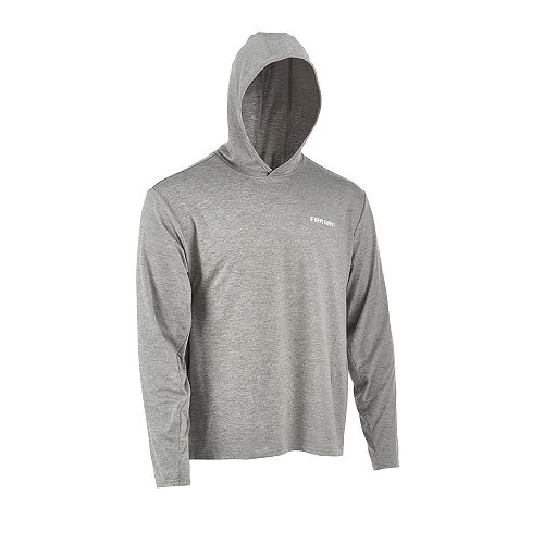 Grand sweat à capuche gris Performance à manches longues pour hommes