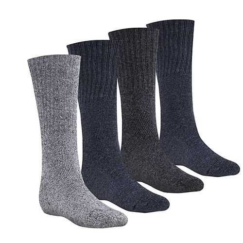 Firm Grip Men's Large Poly/Cotton Work Socks (4-Pack) and Hat Combo