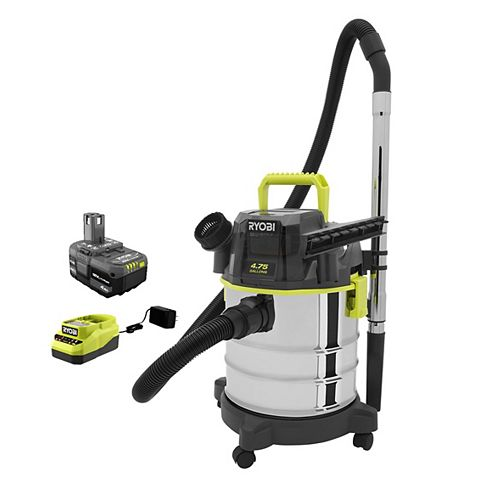 18V ONE+ Cordless 4.75 Ga. Wet/Dry Vacuum Kit with 4.0 Ah Battery and Charger