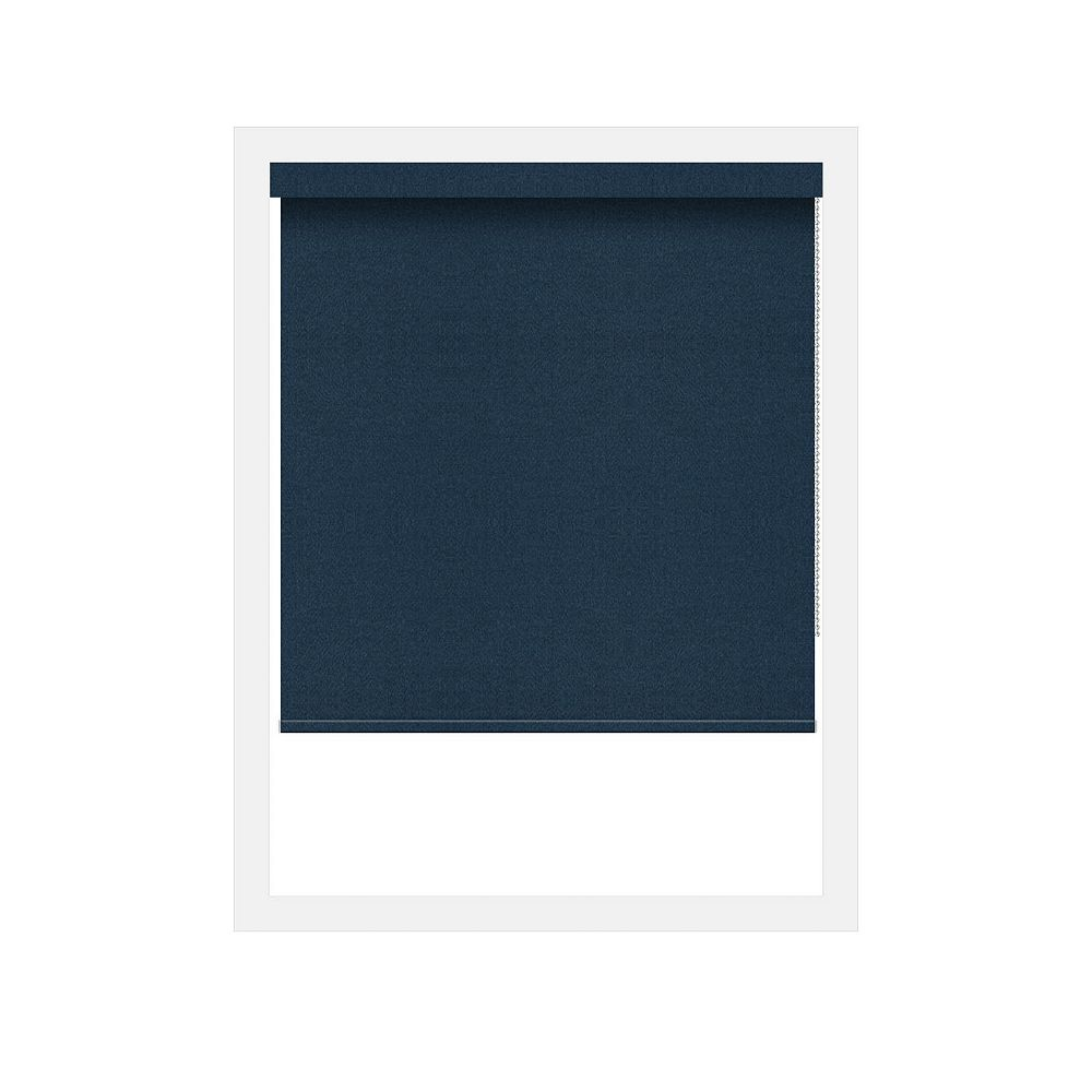 Off Cut Shades Navy Crystaline Opaque Black Out Roller Shade - 38 x 100