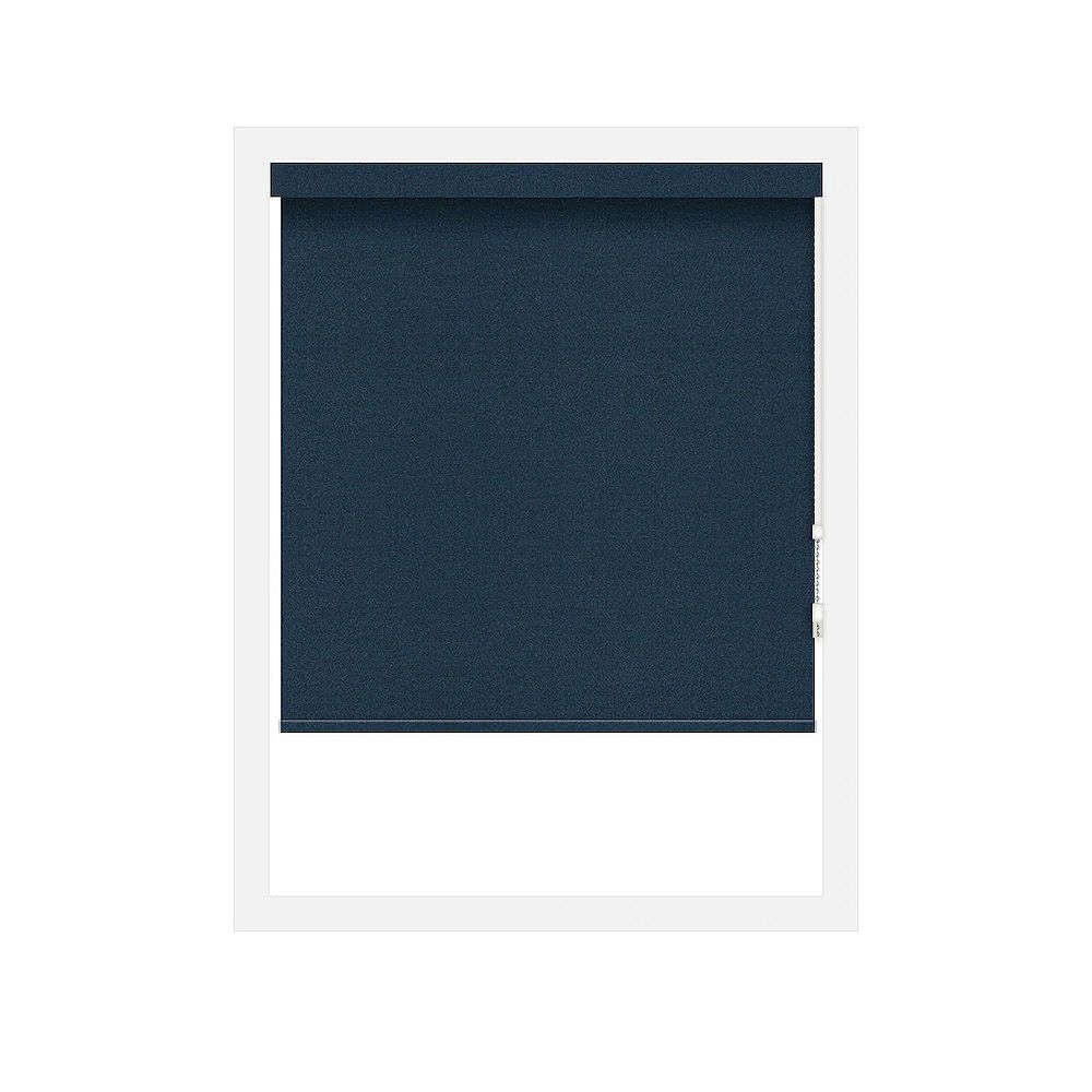 Off Cut Shades Navy Crystaline Opaque Black Out Roller Shade - 48 x 100