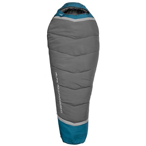 ALPS Alps Blaze Regular Sleeping Bag - Charcoal/blue coral