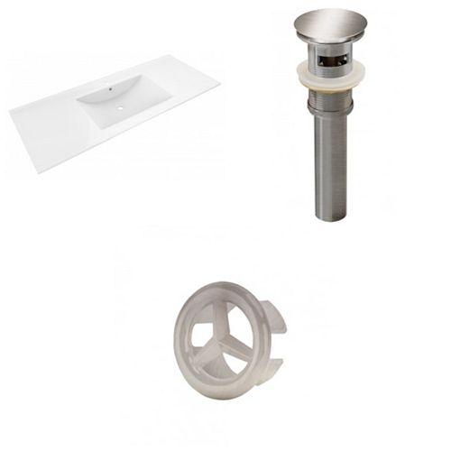 AI-21432 48-inch W Ceramic Top Set in Brushed Nickel