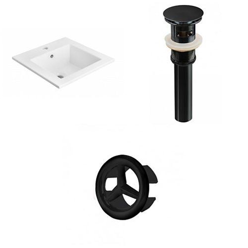 AI-21654 21-inch W Ceramic Top Set in Black