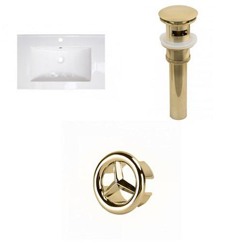 AI-21923 25-inch W Ceramic Top Set in Gold