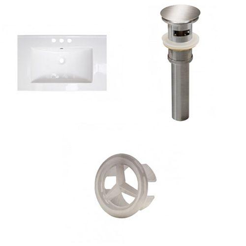 AI-21928 25-inch W Ceramic Top Set in Brushed Nickel