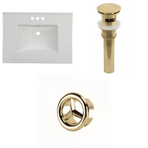 AI-22075 30.75-inch W Ceramic Top Set in Gold