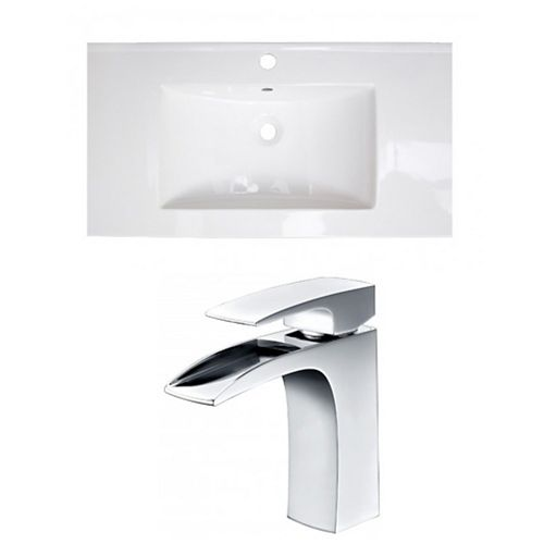 AI-22309 36.75-inch W Ceramic Top Set in Chrome