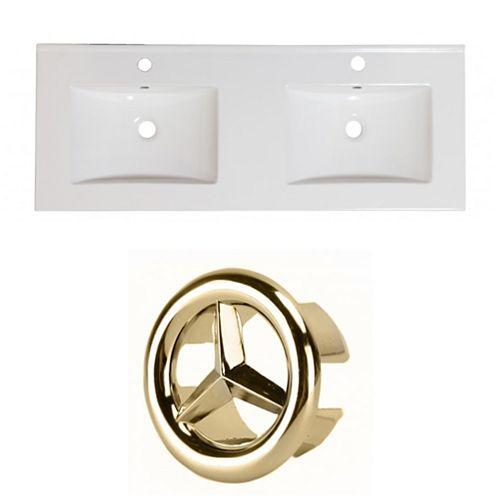 AI-24360 59-inch W Ceramic Top Set in Gold
