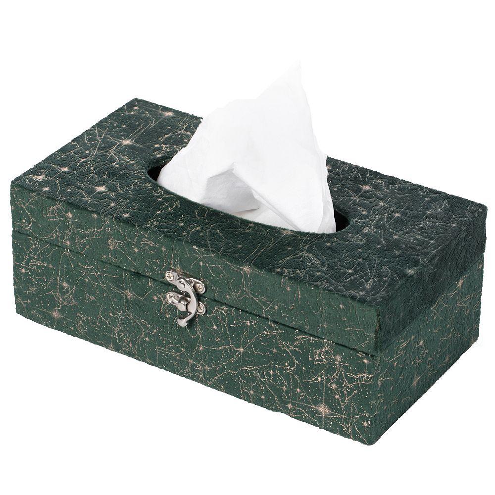 Vintiquewise Papier moderne velours rectangulaire Mouchoirs Holder Box, Vert