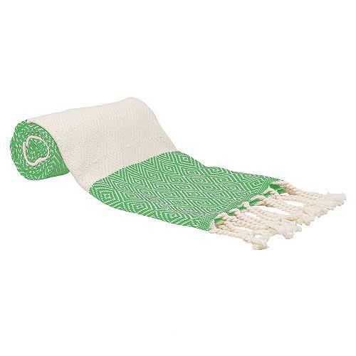 "100% Cotton Turkish Hand Towels, Set of 2 18"" x 40"" Diamond Peshtemal Kitchen and Bath Towels, Navy"