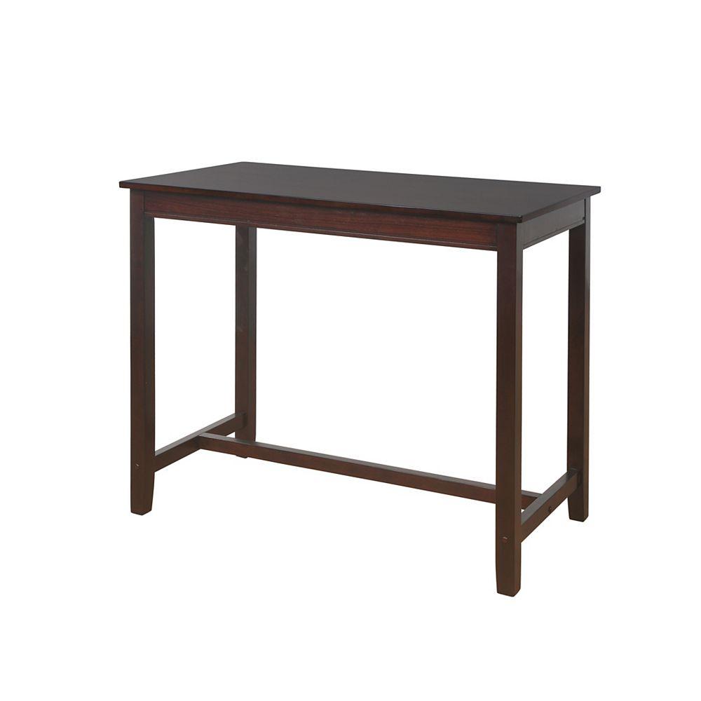 Linon Home Décor Products TABLE DE BAR CLARIDGE NOYER