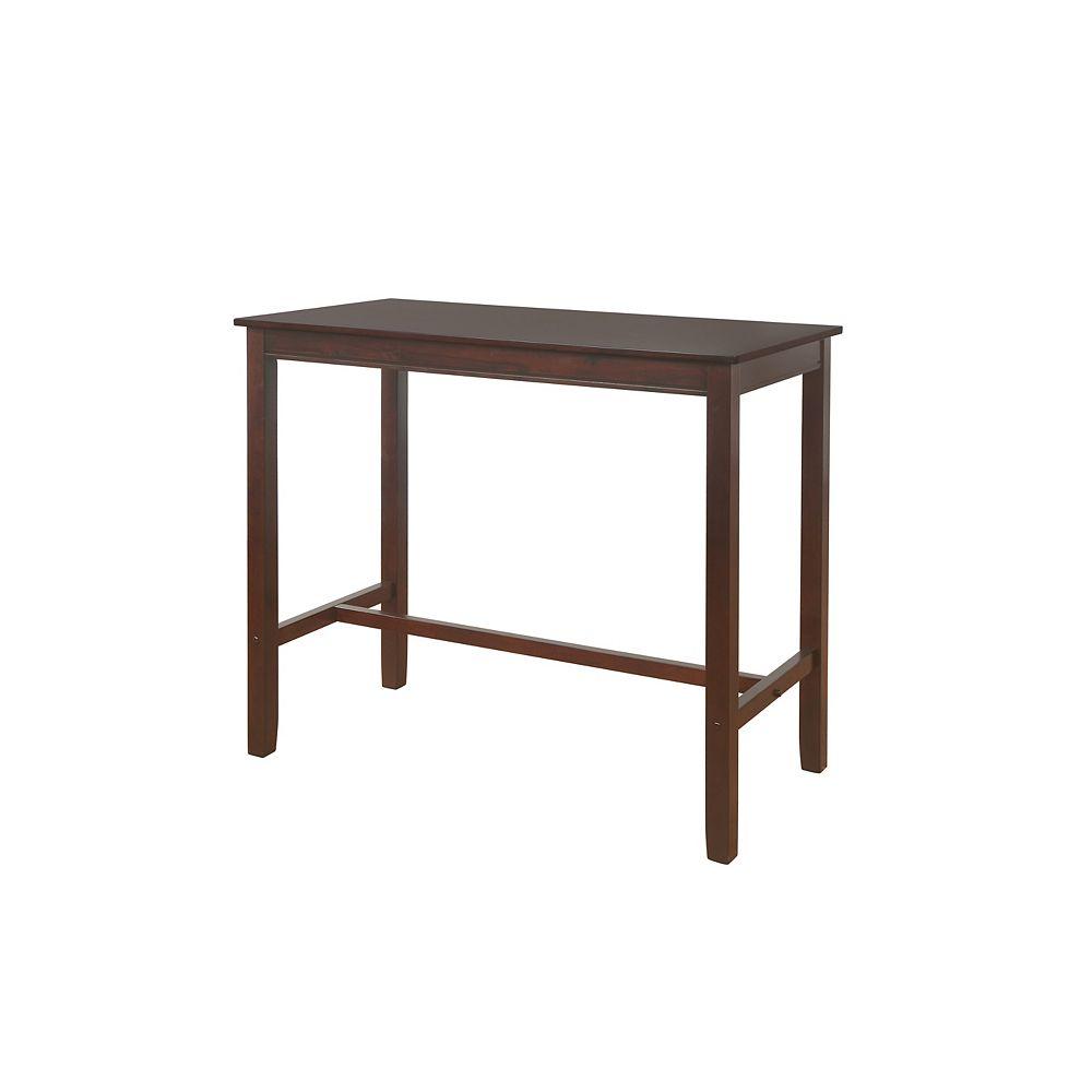 Linon Home Décor Products CLARIDGE BAR PUB TABLE BRUN