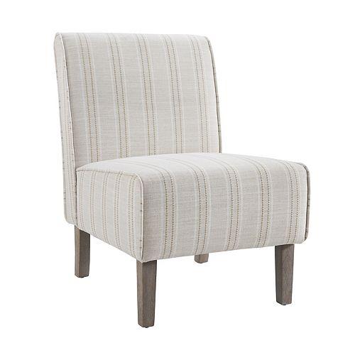 Allison Linen Stripe Accent Chair